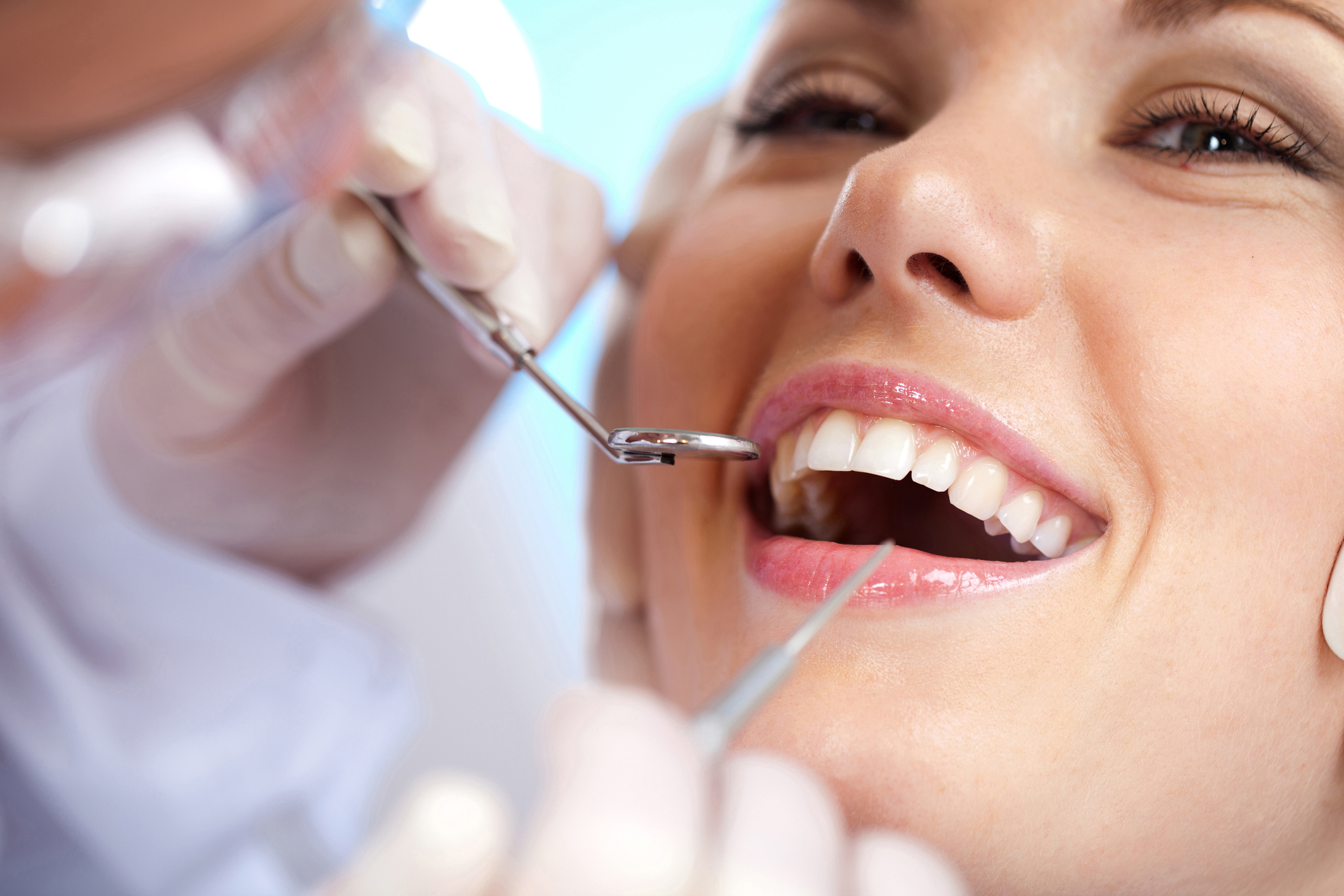 examination and treatment of the teeth in the dental clinic